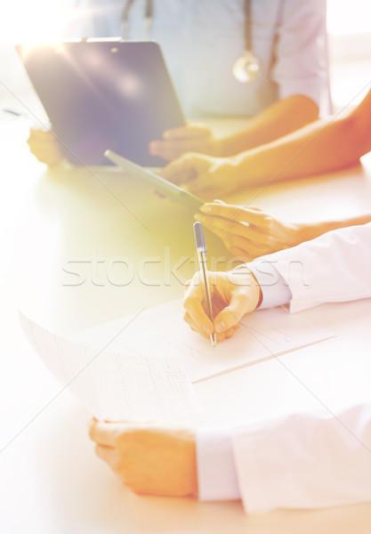 幸せ 医師 セミナー 病院 教育 ストックフォト © dolgachov