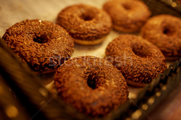 Donuts bakkerij voedsel Stockfoto © dolgachov