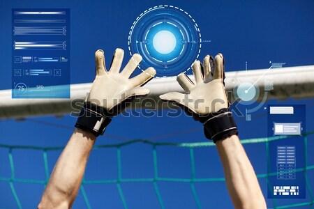 Torhüter Fußballer Fußball Ziel Sport Menschen Stock foto © dolgachov