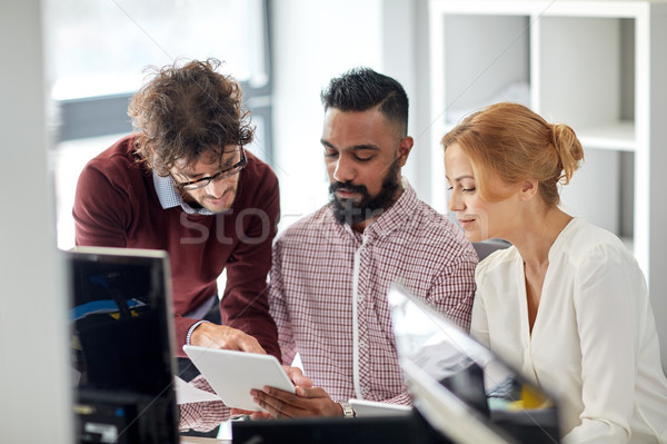 business team with tablet pc computers in office Stock photo © dolgachov