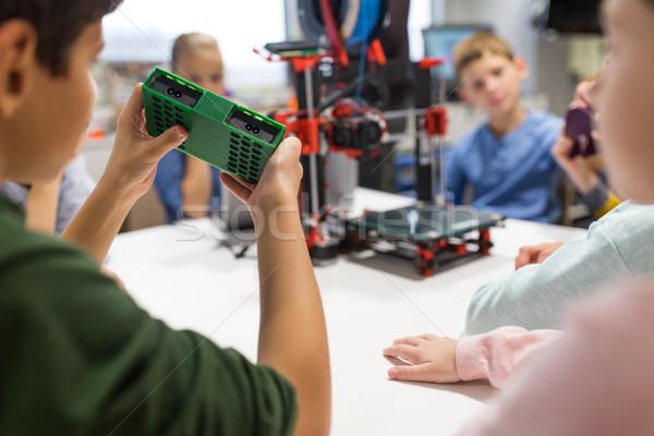 Dzieci 3D drukarki szkoły edukacji Zdjęcia stock © dolgachov