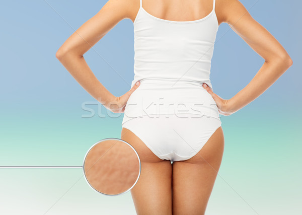 close up of woman body in white underwear Stock photo © dolgachov