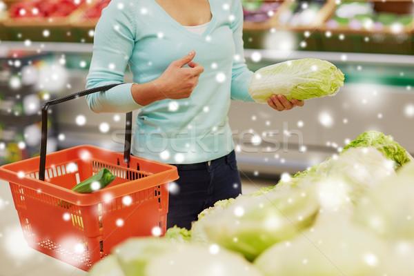 女性 バスケット 中国語 キャベツ 食料品 販売 ストックフォト © dolgachov