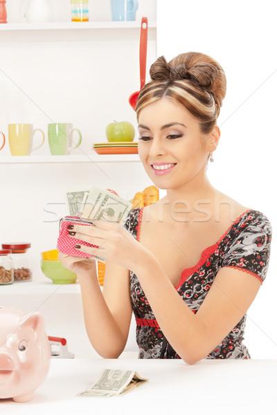 美しい 主婦 財布 お金 画像 女性 ストックフォト © dolgachov