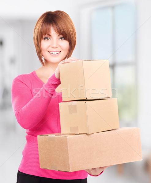 Foto d'archivio: Imprenditrice · foto · business · donna · ufficio · felice