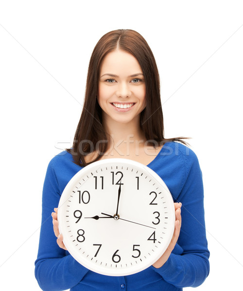 businesswoman with wall clock Stock photo © dolgachov