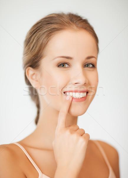 ストックフォト: 女性 · 歯 · 顔 · 美人 · 笑顔