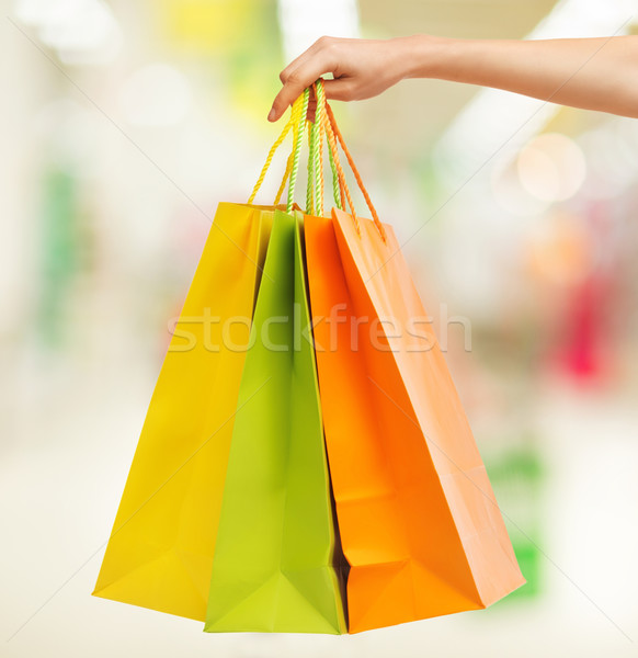 picture of multi colored shopping bags Stock photo © dolgachov