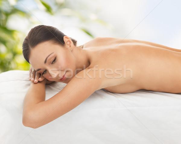 Femeie frumoasa spa salon imagine femeie natură Imagine de stoc © dolgachov