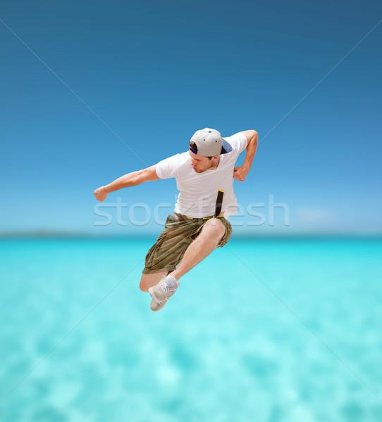 Stok fotoğraf: Erkek · dansçı · atlama · hava · dans · uygunluk