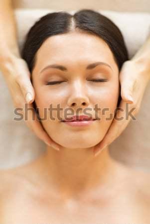красивая женщина Spa салона массаж здоровья красоту Сток-фото © dolgachov