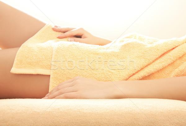 Weiblichen Hände Beine spa Salon Stock foto © dolgachov