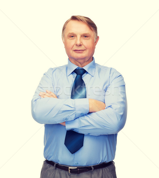 Mosolyog üzletember tanár üzlet iroda oktatás Stock fotó © dolgachov