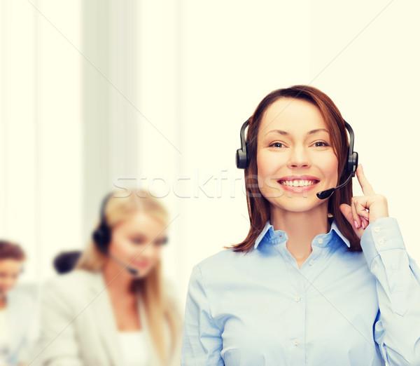 優しい 女性 ヘルプライン 演算子 オフィス ビジネス ストックフォト © dolgachov