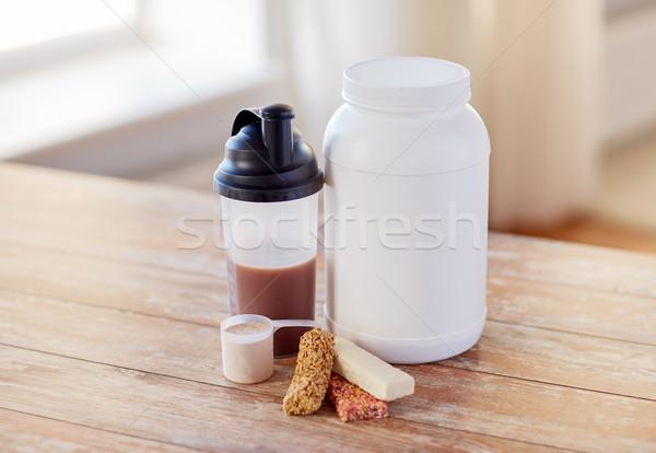 タンパク質 食品 表 スポーツ フィットネス ストックフォト © dolgachov