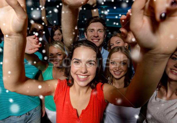 Stock fotó: Mosolyog · nők · tánc · klub · buli · ünnepek