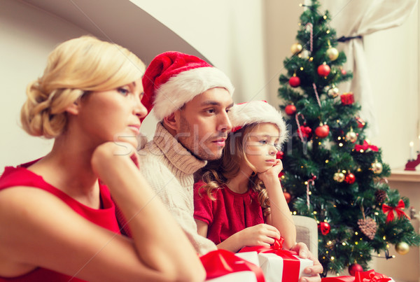 Lehangolt családi otthon sok ajándékdobozok család karácsony Stock fotó © dolgachov