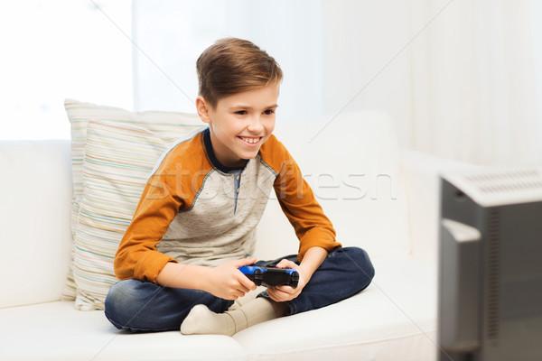 Bedieningshendel spelen video game home recreatie Stockfoto © dolgachov