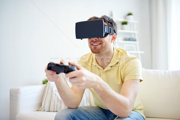 человека виртуальный реальность гарнитура технологий Сток-фото © dolgachov