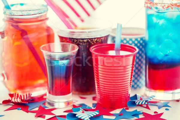 Italok amerikai nap buli ünneplés ünnepek Stock fotó © dolgachov