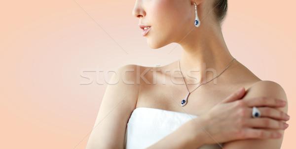 美人 イヤリング リング 美 宝石 人 ストックフォト © dolgachov