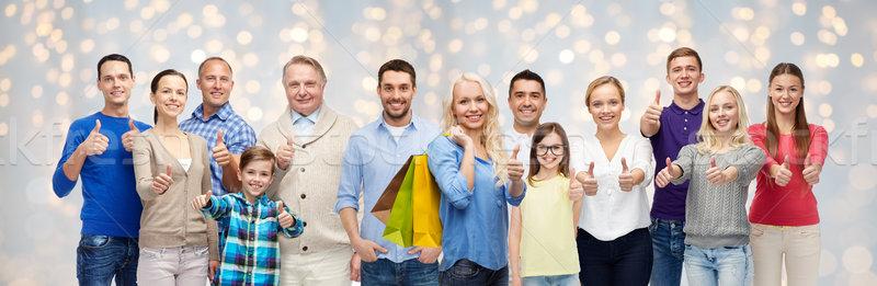Stockfoto: Gelukkige · mensen · tonen · verkoop · familie