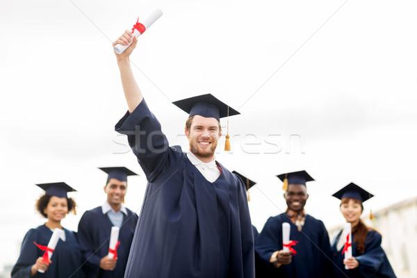 Stock fotó: Boldog · diákok · oktatás · érettségi · emberek · csoport