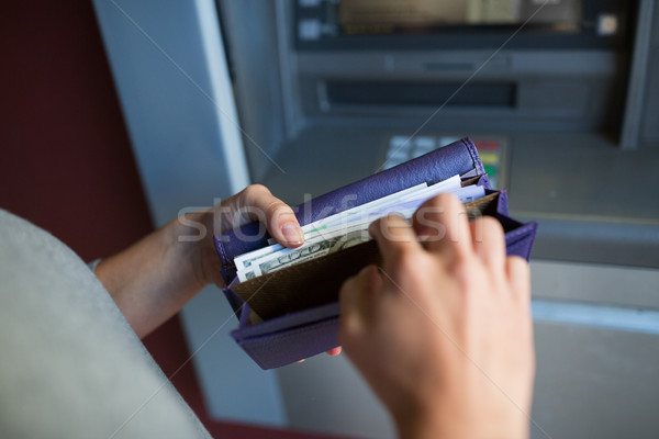 Mains argent atm machine Finance Photo stock © dolgachov
