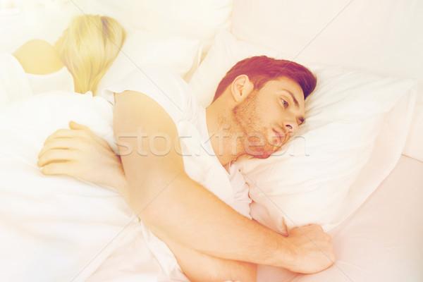 молодым человеком страдание бессонница люди здоровья спать Сток-фото © dolgachov