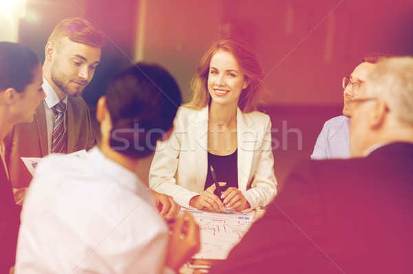 business team with scheme meeting at office Stock photo © dolgachov