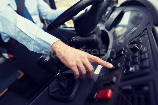 Conductor conducción autobús transporte transporte Foto stock © dolgachov