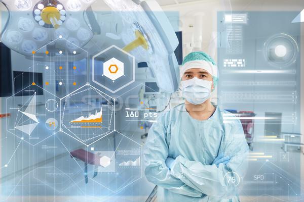 Cirujano sala de operaciones hospital gráficos cirugía medicina Foto stock © dolgachov