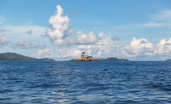 view to indian ocean and seychelles islands Stock photo © dolgachov