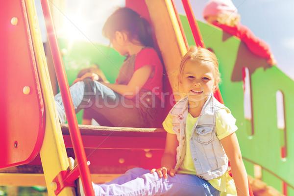 幸せ 子供 子供 遊び場 夏 幼年 ストックフォト © dolgachov