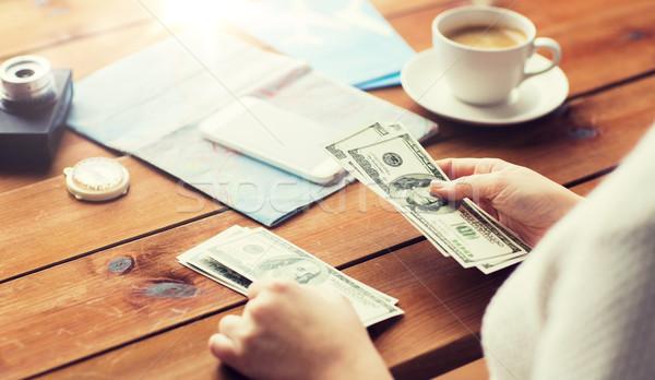 путешественник рук доллара деньги отпуск Сток-фото © dolgachov