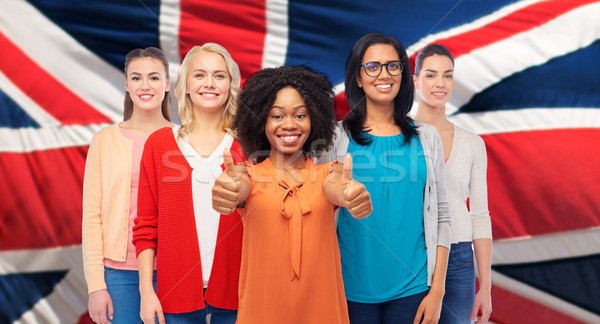Internationaux anglais femmes diversité Photo stock © dolgachov