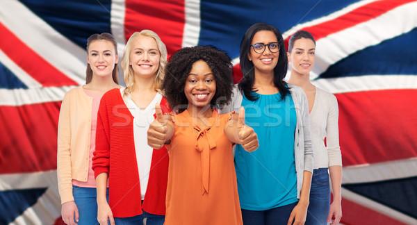 Internacional Inglés mujeres diversidad Foto stock © dolgachov