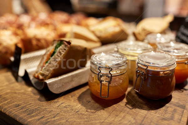 craft jam, food at store or grocery Stock photo © dolgachov