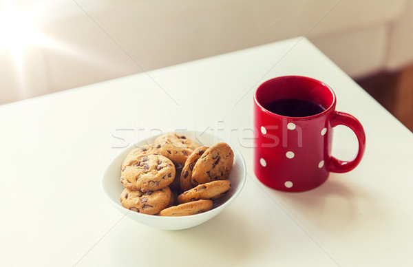 Stockfoto: Haver · cookies · Rood · tabel
