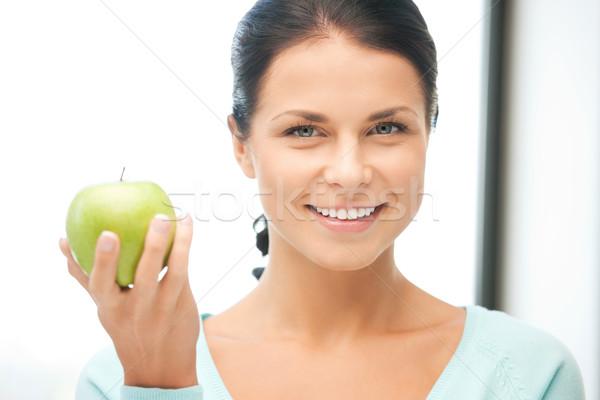 Stockfoto: Huisvrouw · groene · appel · heldere · foto · vrouw