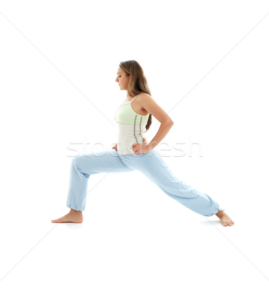 virabhadrasana warrior pose Stock photo © dolgachov