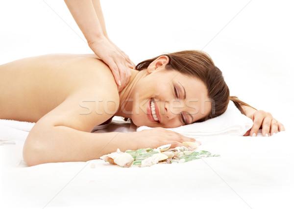 happy massage #2 Stock photo © dolgachov