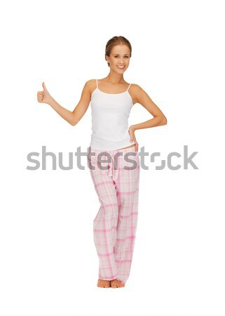 Donna cotone pigiama foto Foto d'archivio © dolgachov