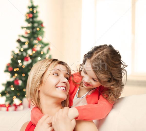 Madre figlia Natale natale inverno Foto d'archivio © dolgachov