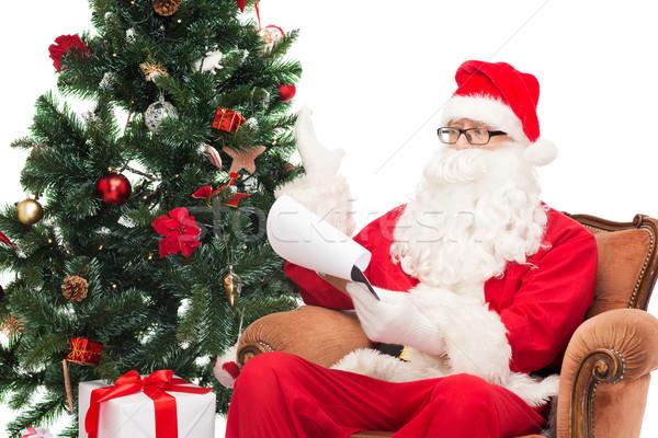 Photo stock: Homme · costume · notepad · Noël · vacances