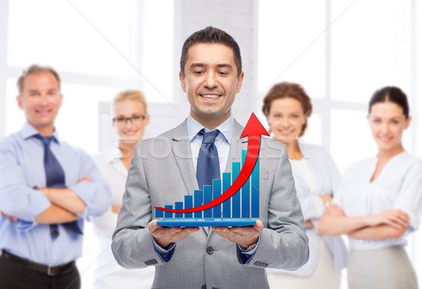 Foto stock: Feliz · empresário · terno · pessoas · de · negócios