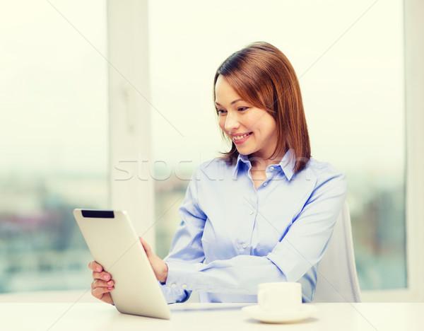 Sorridente empresária estudante escritório negócio Foto stock © dolgachov