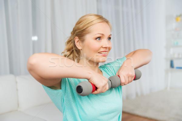 Stockfoto: Vrouw · home · fitness · sport