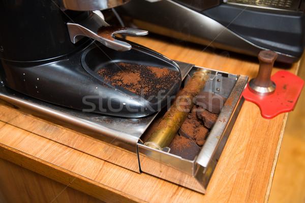 Kahve değirmen kutu kafe Stok fotoğraf © dolgachov