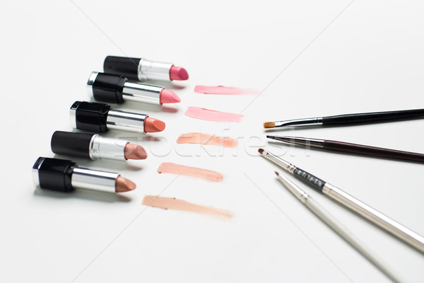 Alcance make-up cosméticos beleza moda Foto stock © dolgachov